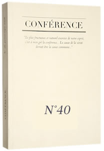 sommaire conference n°40