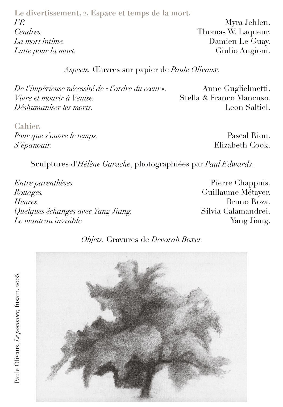 Sommaire Revue Conférence N°43