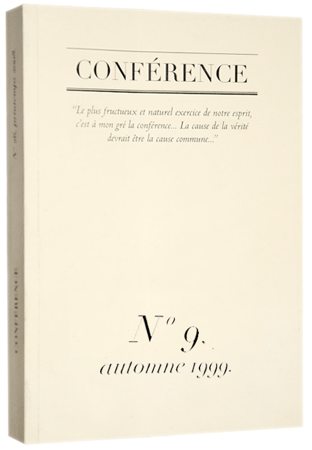 CONFÉRENCE, N° 7, automne 1998.
