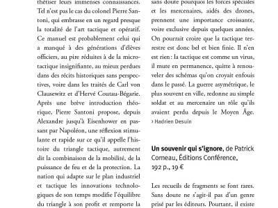 """La revue des deux mondes sur l'ouvrage """"Un souvenir qui s'ignore"""""""