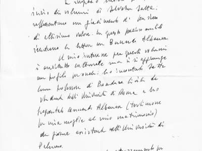 Une lettre du Président de la République italienne