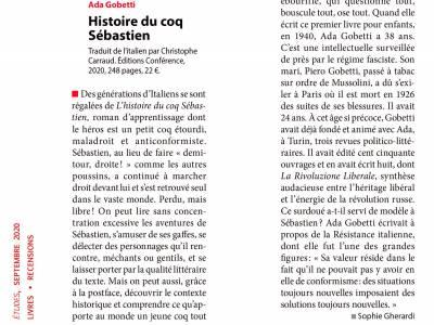 Recension de la revue Études à propos de « Histoire du coq Sébastien »
