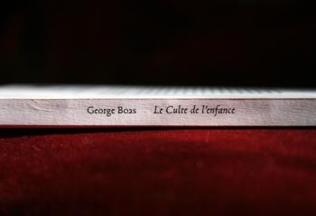 Le Culte de l'enfance, de George Boas