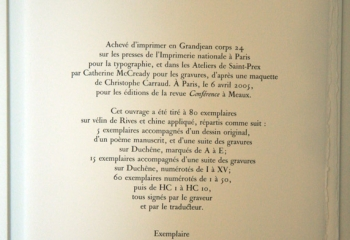 XIX SONNETS DE PÉTRARQUE traduits par Yves Bonnefoy, avec huit gravures de gérard de Palézieux.